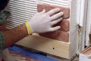Облицовка плиткой под кирпич